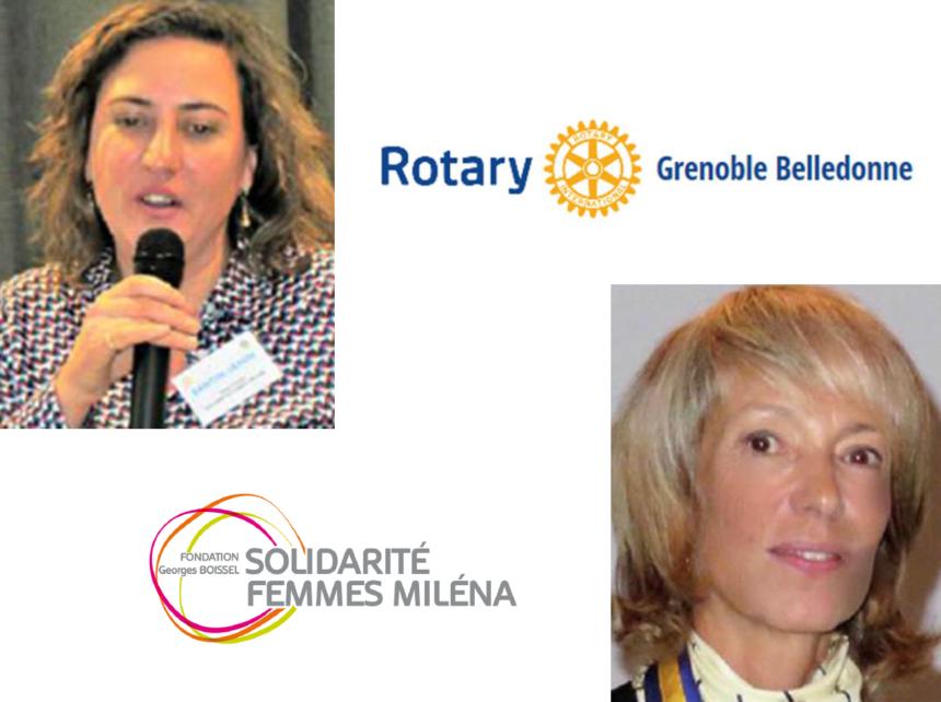 Le Rotary Club Grenoble Belledonne soutient Solidarité Femmes Miléna