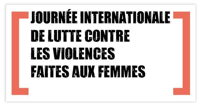 25 novembre 2019 – Journée internationale pour l'élimination de la violence à l'égard des femmes